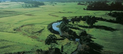 Aerial view of Yarra River, Yarra Valley